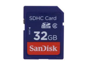 SanDisk 32GB Secure Digital High-Capacity (SDHC) Flash Card Model SDSDB-032G-A11