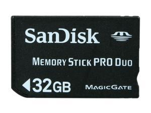 SanDisk 32GB Memory Stick Pro Duo (MS Pro Duo) Flash Card Model SDMSPD-032G-A11