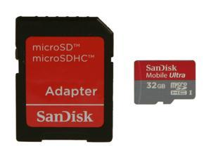 SanDisk Mobile Ultra 32GB microSDHC Flash Card Model SDSDQY-032G-A11A
