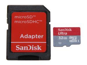 SanDisk Ultra UHS-I 32GB microSDHC Flash Card Model SDSDQUI-032G-A11