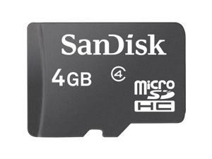 SanDisk 4GB microSDHC Flash Card Model SDSDQ-004G-A46A