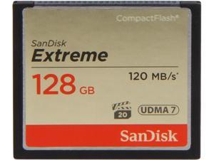 SanDisk Extreme 128GB Compact Flash (CF) Memory Card Model SDCFXS-128G-A46