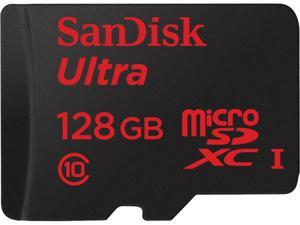 SanDisk 128GB Ultra microSDXC UHS-I/Class 10 Memory Card with Adapter, Speed Up to 80MB/s (SDSQUNC-128G-GN6MA)