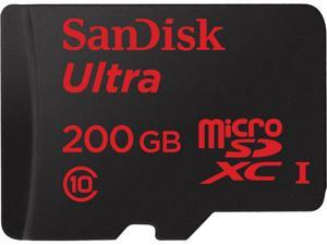 SanDisk 200GB Ultra microSDXC UHS-I/Class 10 Memory Card with Adapter, Speed Up to 90MB/s (SDSDQUAN-200G-G4A)