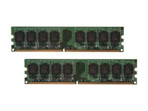 PNY 2GB (2 x 1GB) 240-Pin DDR2 SDRAM DDR2 667 (PC2 5300) Dual Channel Kit Desktop Memory Model MD2048KD2-667