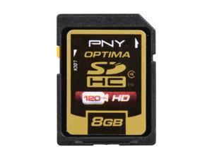 PNY Optima 8GB Secure Digital High-Capacity (SDHC) Flash Card Model P-SDHC8G4-EF