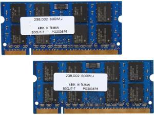 PNY Optima 4GB (2 x 2GB) 200-Pin DDR2 SO-DIMM DDR2 667 (PC2 5300) Dual Channel Kit Laptop Memory Model MN4096KD2-667