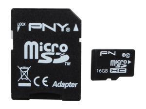 PNY 16GB microSDHC Flash Card Model P-SDU16G10-GE