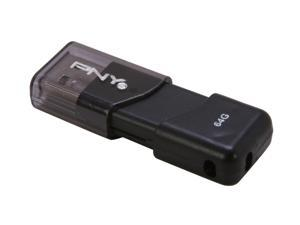 PNY 64GB USB 2.0 Flash Drive Model P-FD64GATT03-EF