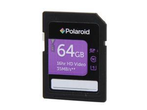 PNY Polaroid 64GB Secure Digital Extended Capacity  #40;SDXC #41; Flash Card Model P-SDX64G10-GEPOL