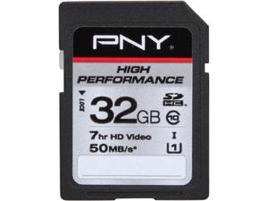 PNY High Performance 32GB Secure Digital High-Capacity (SDHC) Flash Card Model P-SDH32G10H-GE
