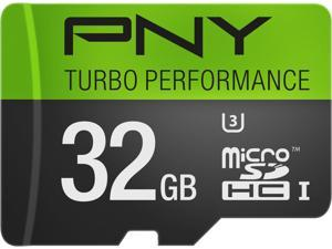 PNY 32GB Turbo microSDHC UHS-I/U3 Class 10 Memory Card without Adapter, Speed Up to 90MB/s (P-SDU32GU390G-GE)