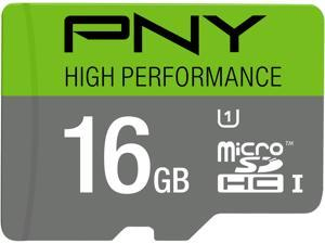PNY 16GB High Performance microSDHC UHS-I/U1 Class 10 Memory Card without Adapter, Speed Up to 60MB/s (P-SDU16GU160G-GE)