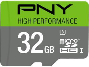 PNY 32GB High Performance microSDHC UHS-I/U3 Class 10 Memory Card without Adapter, Speed Up to 60MB/s (P-SDU32GU360G-GE)