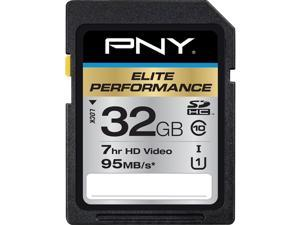 PNY 32GB Elite Performance SDHC UHS-I/U1 Class 10 Memory Card, Speed Up to 95MB/s (P-SDH32U195-GE)
