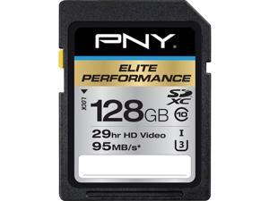 PNY 128GB Elite Performance SDXC UHS-I/U3 Class 10 Memory Card, Speed Up to 95MB/s (P-SDX128U395-GE)