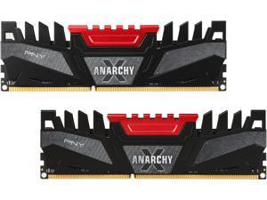 PNY Anarchy X 8GB (2 x 4GB) 240-Pin DDR3 SDRAM DDR3 2400 (PC3 19200) Desktop Memory Model MD8GK2D3240011AXR-Z