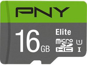 PNY 16GB Elite microSDHC UHS-I/U1 Class 10 Memory Card with Adapter, Speed Up to 85MB/s (P-SDU16U185EL-GE)