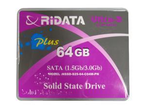 """RiDATA Ultra-S Plus NSSD-S25-64-C04M-PNVB 2.5"""" 64GB SATA II MLC Internal Solid State Drive (SSD)"""