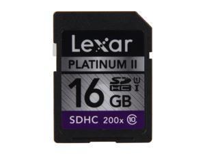 Lexar Platinum II 16GB Secure Digital High-Capacity (SDHC) Flash Card Model LSD16GBSBNA200