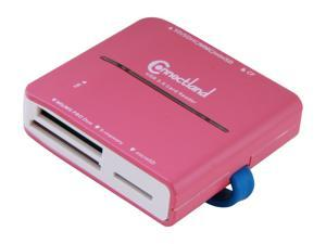 SYBA  CL-CRD20130  All-in-one  USB 3.0  SDHC, CF, MS Memory Card Reader, Reads Micro SD, T-Flash and M2 without Adapter, Color Pink Card Reader - Retail