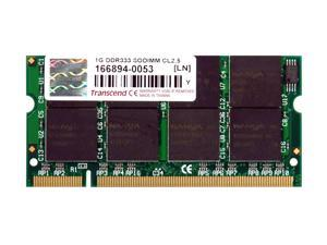 Transcend 1GB 200-Pin DDR SO-DIMM DDR 333 (PC 2700) Laptop Memory Model TS128MSD64V3A