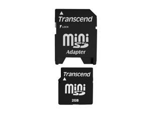 Transcend 2GB MiniSD Flash Card Model TS2GSDM
