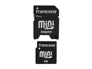 Transcend 2GB MiniSD Flash Card Model TS2GSDM