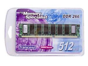 Transcend 512MB 184-Pin DDR SDRAM DDR 266 (PC 2100) System Memory Model TS64MLD64V6F5