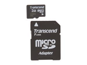 Transcend 2GB MicroSD Flash Card Model TS2GUSD