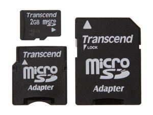 Transcend 2GB MicroSD Flash Card Model TS2GUSD-2