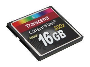 Transcend 16GB Compact Flash (CF) Flash Card Model TS16GCF300