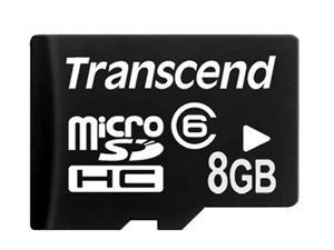 Transcend 8GB microSDHC Flash Card Model TS8GUSDC6