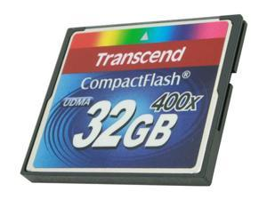 Transcend 32GB Compact Flash (CF) 400X Flash Card Model TS32GCF400