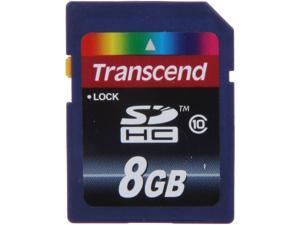 Transcend 8GB Secure Digital High-Capacity (SDHC) Flash Card Model TS8GSDHC10