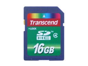 Transcend 16GB Secure Digital High-Capacity (SDHC) Flash Card Model TS16GSDHC4