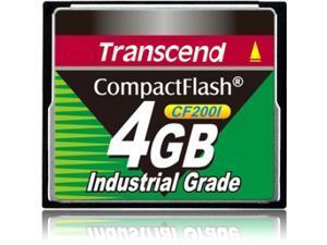 Transcend TS4GCF200I 4 GB CompactFlash (CF) Card - 1 Card