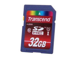 Transcend 32GB Secure Digital High-Capacity (SDHC) Flash Card Model TS32GSDHC10U1