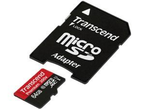 Transcend 64 GB MicroSD Extended Capacity (Micro SDXC) Flash Card