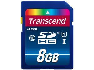 Transcend Premium 8GB Secure Digital High-Capacity (SDHC) Flash Card Model TS8GSDU1