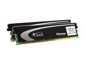 ADATA 2GB (2 x 1GB) 240-Pin DDR2 SDRAM DDR2 800 (PC2 6400) Dual Channel Kit Desktop Memory Model AX2U800GB1G5-AG