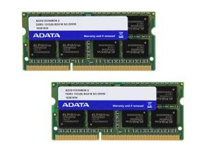 ADATA Premier Series 16GB (2 x 8G) 204-Pin DDR3 SO-DIMM DDR3 1333 (PC3 10666) Laptop Memory Model AD3S1333W8G9-2