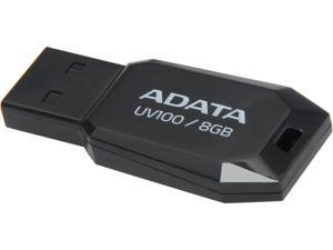 ADATA DashDrive UV100 8GB USB 2.0 Flash Drive (Black) Model AUV100-8G-RBK