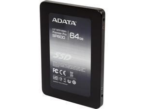 "ADATA Premier SP600 2.5"" 64GB SATA III MLC Internal Solid State Drive (SSD) ASP600S3-64GM-C"