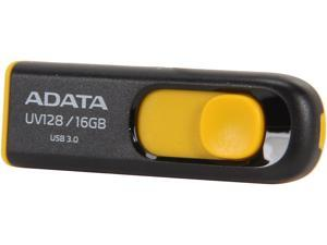 ADATA DashDrive Series UV128 16GB USB 3.0 Flash Drive, Black/Yellow (AUV128-16G-RBY)