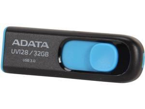 ADATA DashDrive Series UV128 32GB USB 3.0 Flash Drive, Black/Blue (AUV128-32G-RBE)