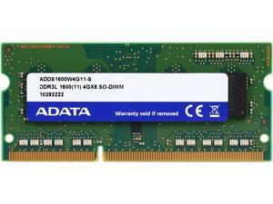 ADATA 4GB 204-Pin DDR3 SO-DIMM DDR3L 1600 (PC3L 12800) Laptop Memory Model ADDS1600W4G11-S