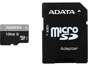 ADATA Premier 128GB microSDHC/SDXC UHS-I U1 Memory Card with One Adapter (AUSDX128GUICL10-RA1)