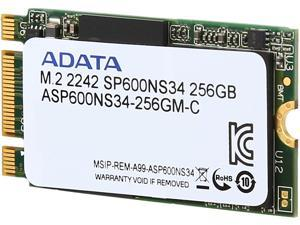 ADATA Premier SP600NS34 M.2 2242 256GB SATA III Synchronous MLC Internal Solid State Drive (SSD) ASP600NS34-256GM-C