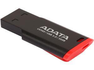 ADATA USA UV140 32GB USB 3.0 Flash Drive, Red/Black (AUV140-32G-RKD)